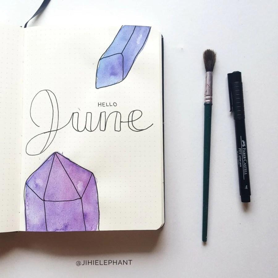 purple june crystal title Sam