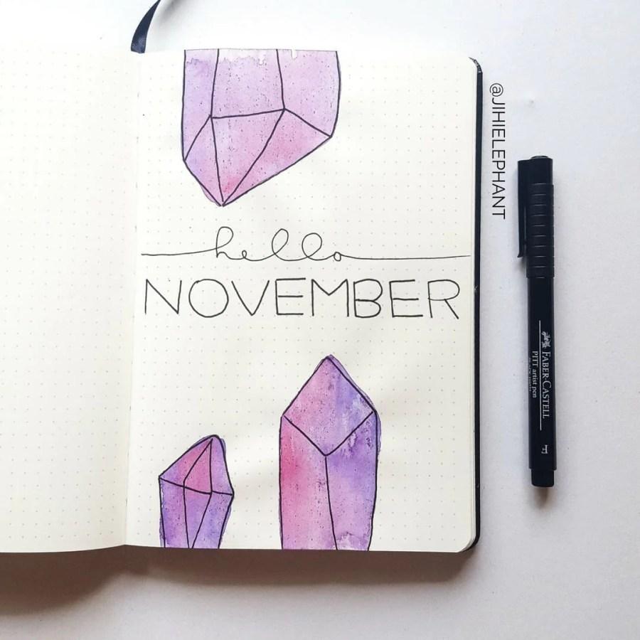 purple november crystal title Sam