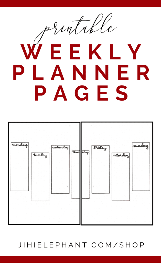 Printable Simple Weekly Bullet Journal Layout | Printable | Download | A5 size