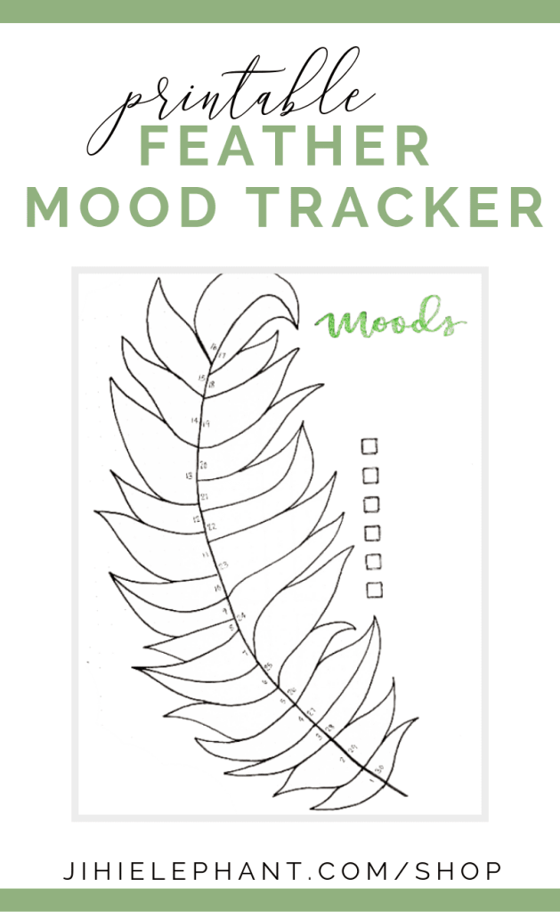 Feather Mood Tracker Bullet Journal Printable | Elizabeth Journals