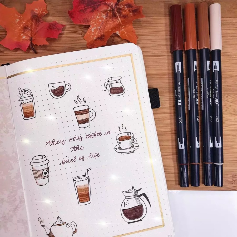 Coffee Doodles by @journalwithkate