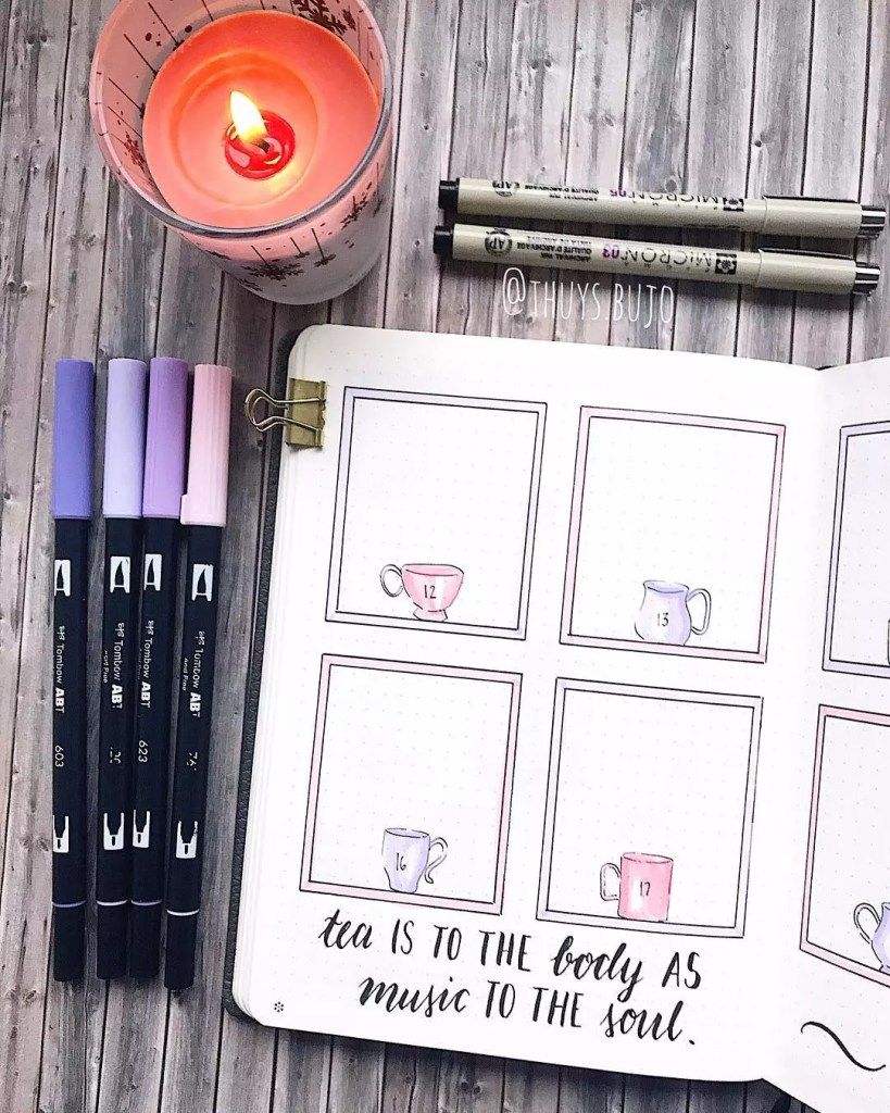 Mugs Weekly by @thuys.bujo