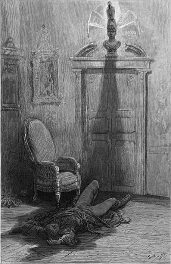 Gustave Doré's depiction of the final lines of 'The Raven'