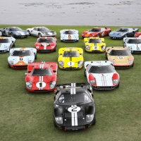 topvehicles: Ford GT40s at Pebble Beach via reddit…