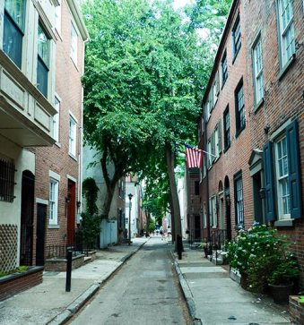 These side streets were not what I expected to find in Philadelphia.