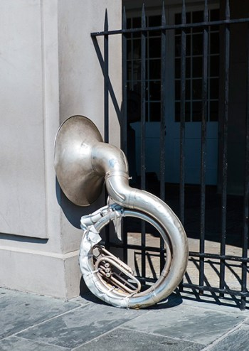 I never did learn why this tuba was here.