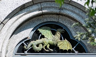 Dragon in an arched window
