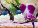 Creamy blueberry cheesecake