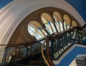 Windows and staircase in the QVB.