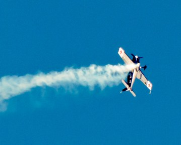 Aerobatics by the Red Baron.