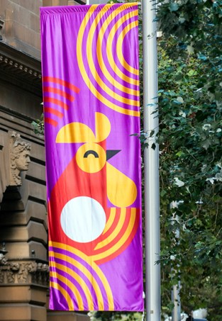 Sydney grabs any excuse to put banners on lightpoles.
