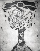 """Totem Phase 2"" 2011. Drypoint, Etching, Aquatint"