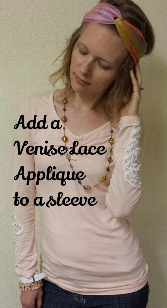 venise lace applique tutorial: Elizabeth Made This