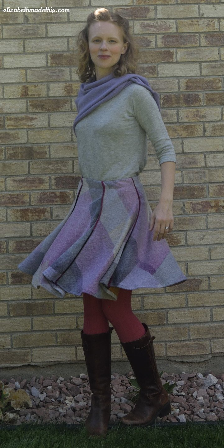 fabricmartsweaterknitskirtfront