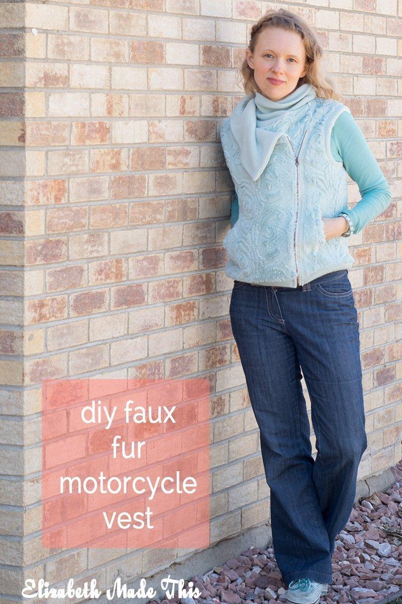 faux fur motorcycle vest