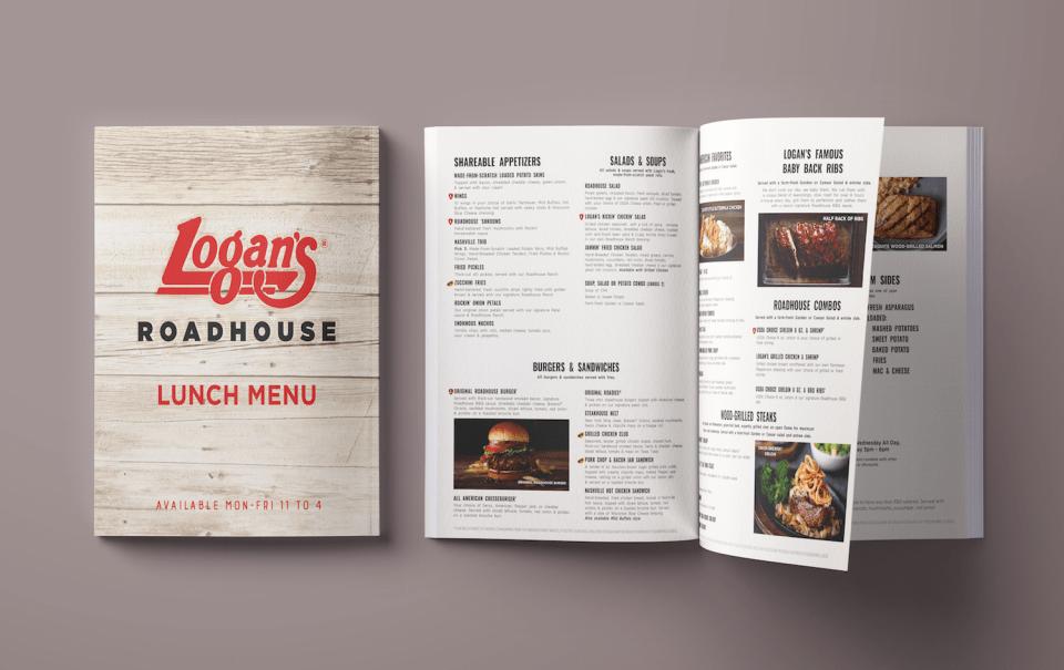 Logan's Roadhouse Lunch Menu Graphic Design