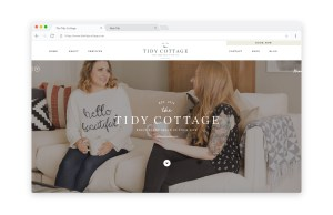 Cozy, chic website design for home organizing company