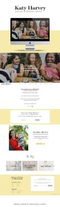 Website design for counselor, eating disorder blog