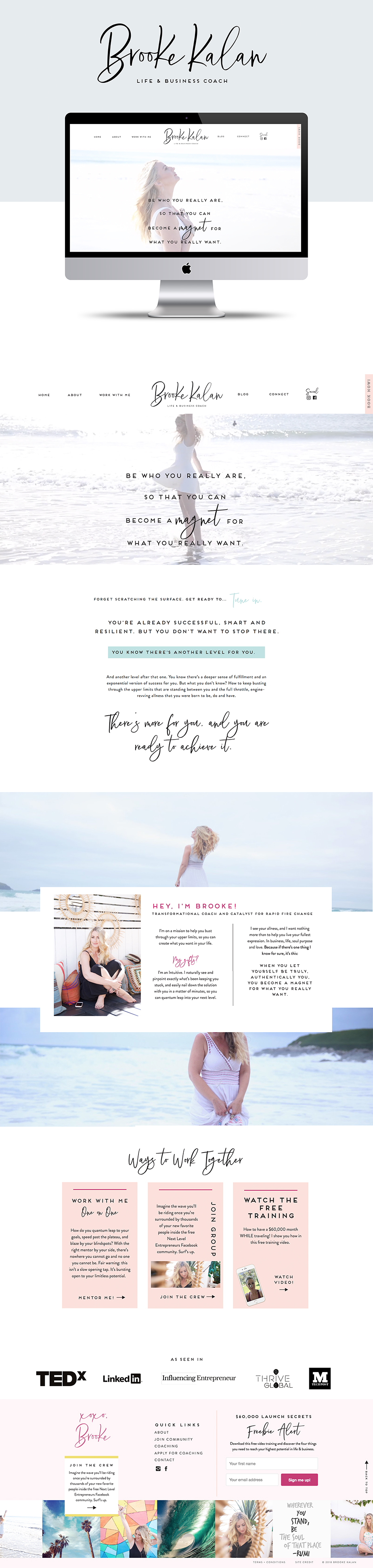 Brooke Kalan - Life and Business Coach Branding and Website Design