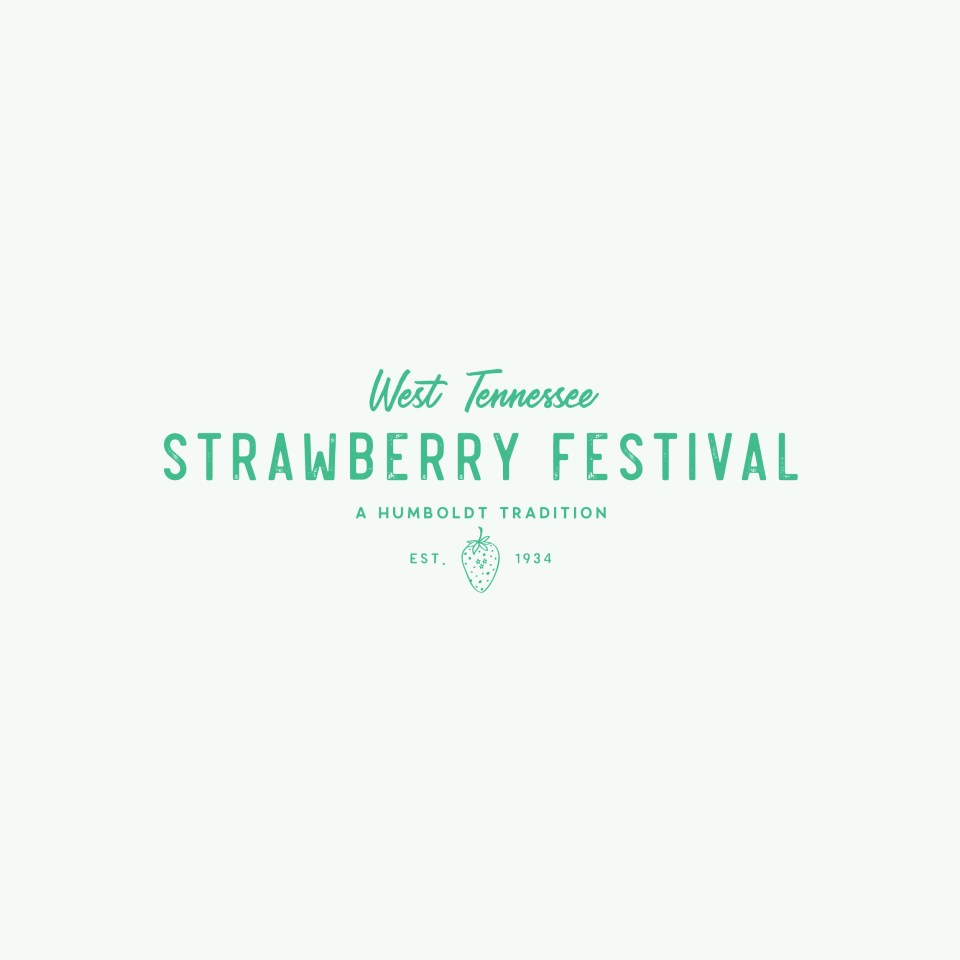 West Tennessee Strawberry Festival Branding - Fun, rustic brand and logo design
