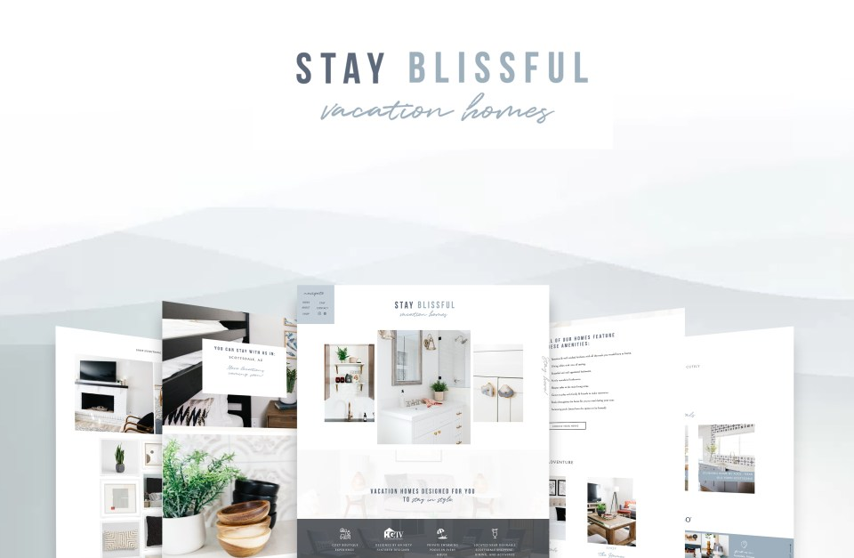 Elizabeth McCravy Showit Website Template Shop - Stay Blissful Vacation Homes - Templates for inteior designers - 5
