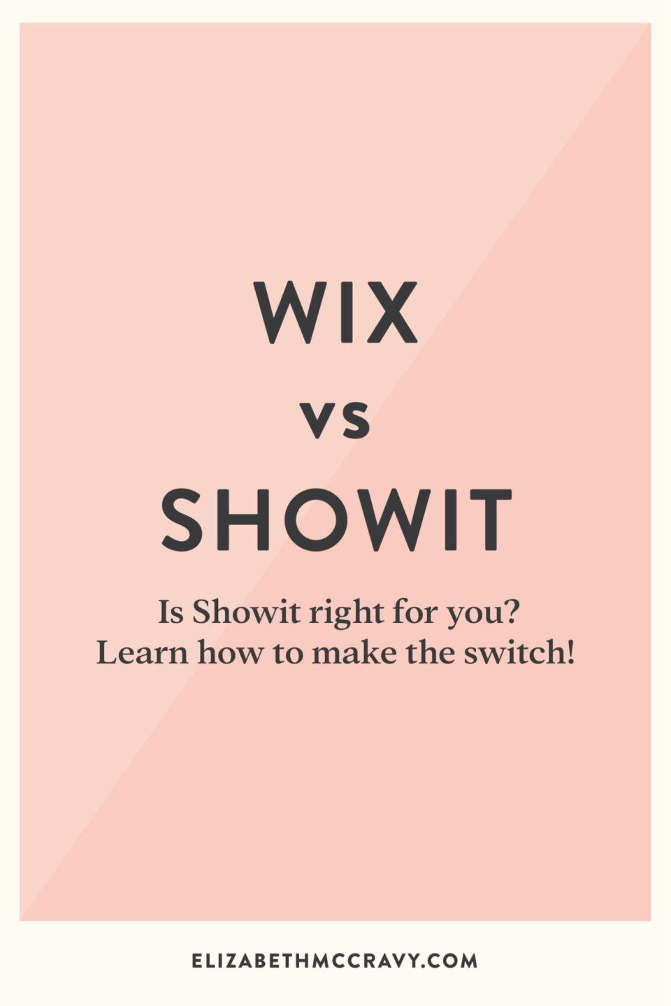 Compare Wix and Showit website platforms and see which one is right for you with Elizabeth McCravy.