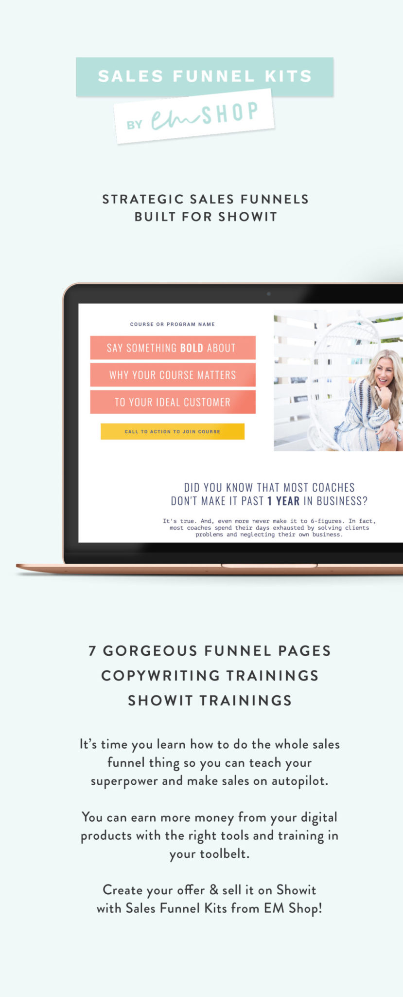 Showit Sales Page Templates by EM Shop — strategic, beautiful and easy to use sales funnels built for Showit5
