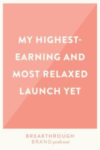 Learn about my highest-earning and most relaxing launch yet in my business as well as what did and didn't worked well.