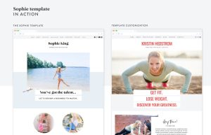 See the Sophie template from EM Shop in action with Kristin Hedstom's personal trainer website!