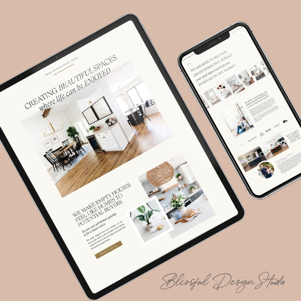 Interior Design Showit Website