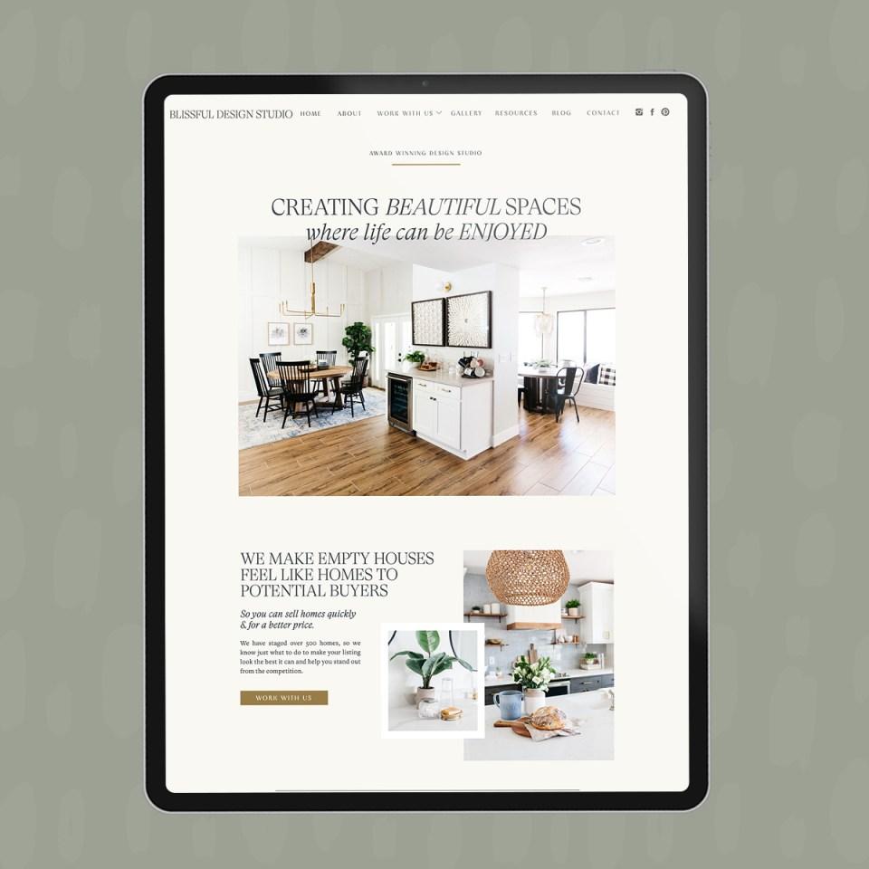 Interior Design Showit Templates