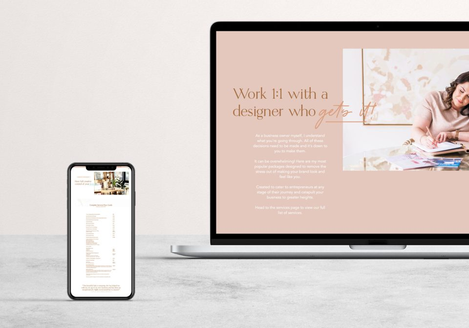 See Leithal and Co's Showit website template for brand designers from Elizabeth McCravy and EM Shop.