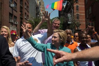 foto de Hillary-Cuomo y de Blasio