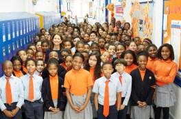 foto de los niños en Success Academy