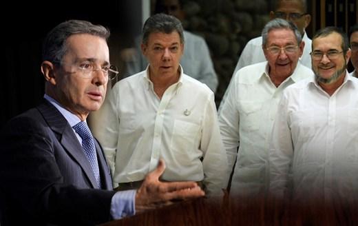 Foto de Santos, Uribe, las Farc