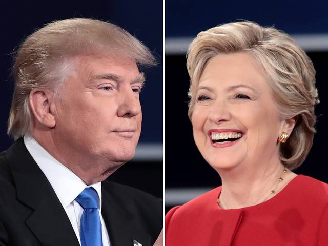 foto de Clinton vs Trump