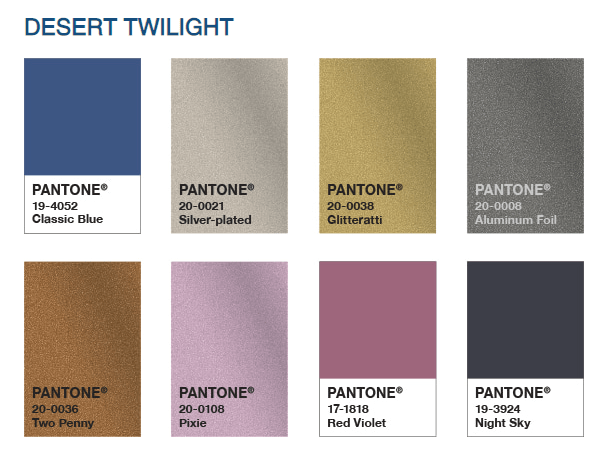 Pantone Colour Palette Desert Twilight