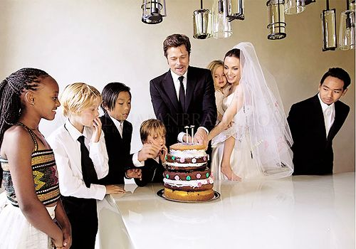 Brad and Angelina Family