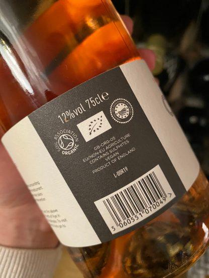 Oxney Pinot Noir Rosé Side Label