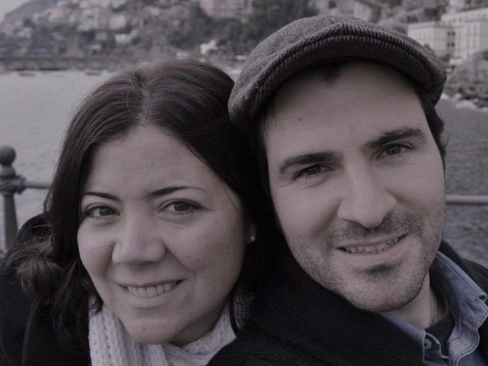 Photograph of Natalia and Nico, managers at Stanlake Park Wine Estate
