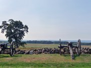 The Union guns fired on the Confederate soldiers when they began their charge on July 3.