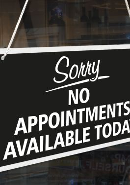 Not Taking Appointments