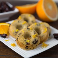 Cranberry Orange Mini Donuts