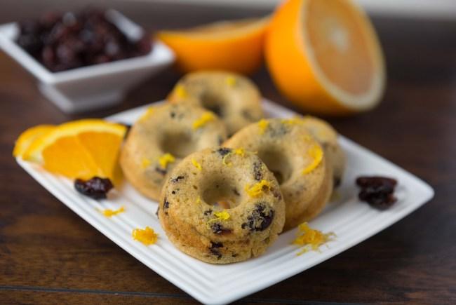 Cranberry Orange Mini Donuts