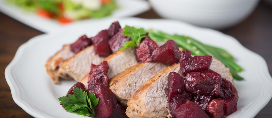 Pan-Seared Pork Tenderloin with Cherry Apple Chutney