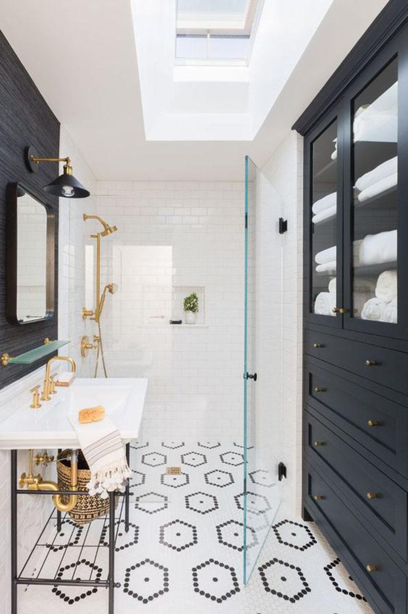 16 Bathrooms That Get Gold Hardware Right  Elizabeth
