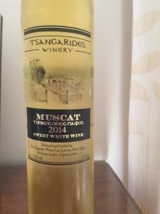 Tsangarides Winery Muscat wine