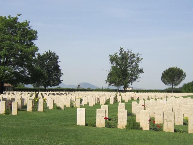 Cassino cemetery graves