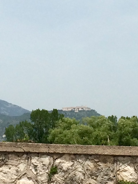 Abbey of Montecassino from the Gari River