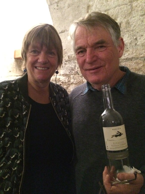 Sue and Humphrey Temperley, proprietors of Château Lestevenie